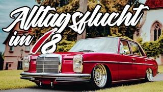 Sourkrauts | Wunderschöner Mercedes W114 auf Luft und 17 Zoll Custom Barock Felgen