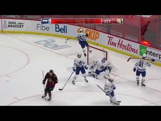 Nikita Zaitsev's top shelf bomb goal vs Leafs (2021)