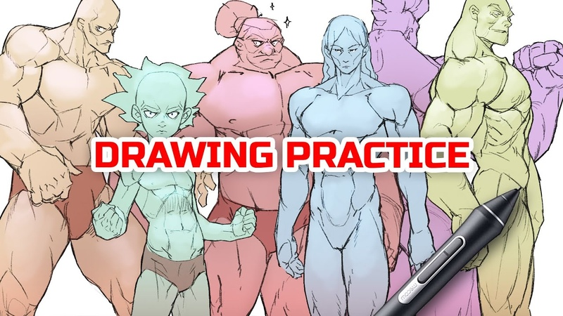 🙋♂️ DRAWING THE MALE BODY construction explained
