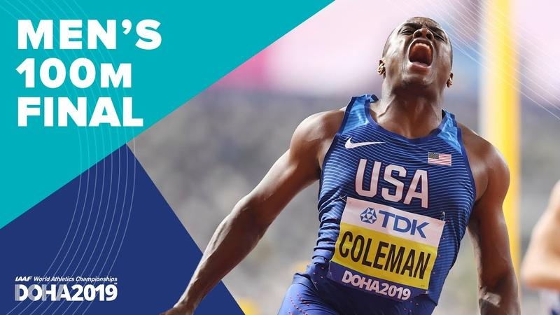Men's 100m Final World Athletics Championships Doha 2019
