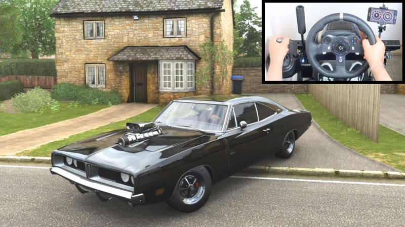 Forza Horizon 4 Dom's Dodge Charger R T Steering Wheel Shifter Fast and Furious Gameplay