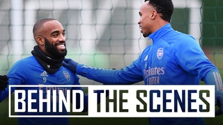 Gabriel Magalhaes on fire! | Behind the scenes at Arsenal training centre