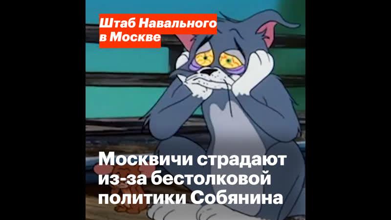 Москвичи страдают из за бестолковой политики Собянина