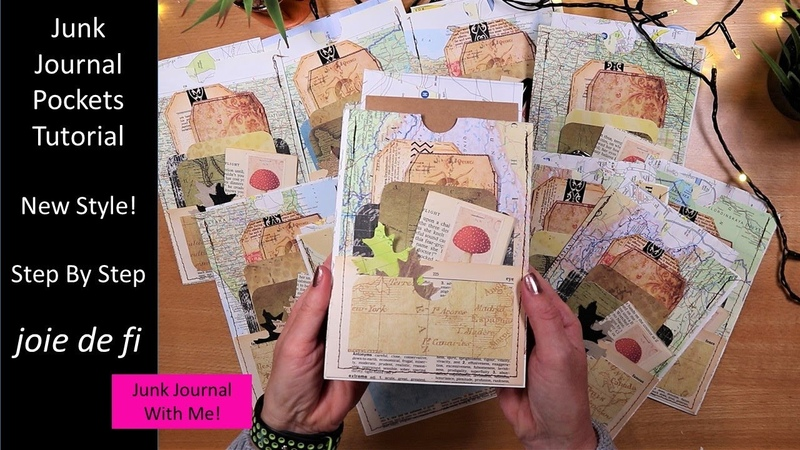 Junk Journal Pockets Tutorial 💕 New Style Step By Step ⭐