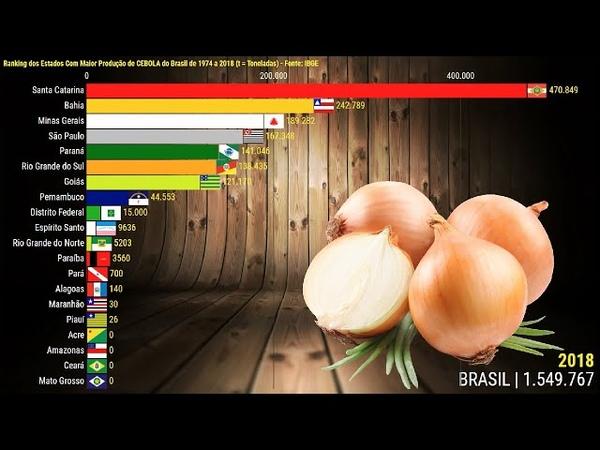 Cebola Ranking dos Estados Com Maior Produção do Brasil