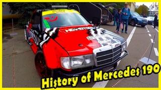 History of Classic German Cars Mercedes 190. Custom Mercedes-Benz W201 for Drifting