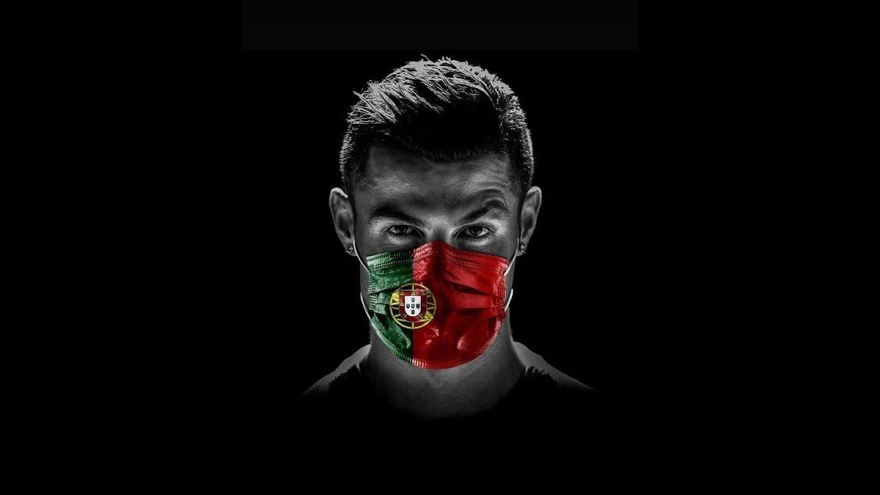 Криштиану Роналду в защитной маске. Сборная Португалии