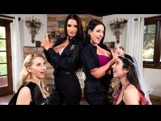 Alix Lynx, Serena Blair, Angela White, Silvia Saige - Noise Complaint - Lesbian Sex Foursome Milf Big Natural Tits Ass, Porn