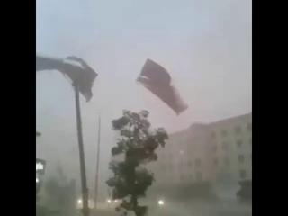 #Соленая #буря в г.#Нукус, #Узбекистан