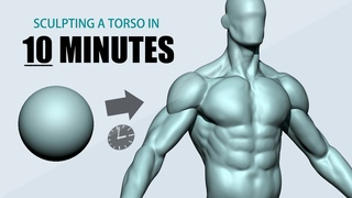 Sculpting a Torso using ZBrush in 10 minutes