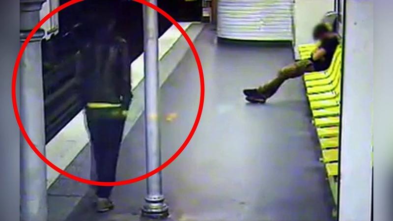 Просматривая камеру в метро сотрудники были в шоке от УВИДЕННОГО Такого они точно раньше не ВИДЕЛИ