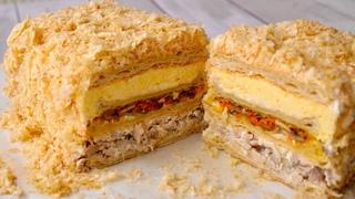 """Закусочный Торт """"Наполеон"""" очень Вкусный и Сытный"""