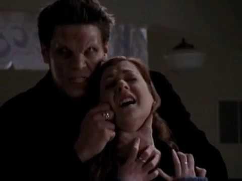 Баффи истребительница вампиров Энджел нападает на Уиллоу