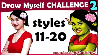 Art Challenges! How To Draw Myself in 10 Animated Art Styles! | Mei Yu | Style Swap Challenge