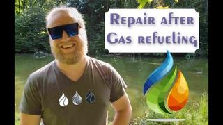 Восстановления работы газового оборудования автомобиля после заправки газом на заправке .... 4k