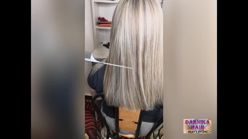 Глубокое питание выпрямление и восстановление волос
