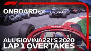 Antonio Giovinazzi Owning Lap 1 in 2020 for Seven Minutes Straight