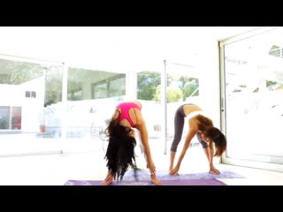 Adriana Chechik and Alina Li doing Yoga in HD