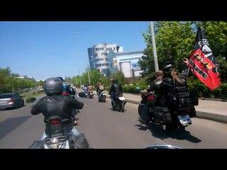 Мотопробег, открытие Донецк   Построение, старт колонны 29 04 18