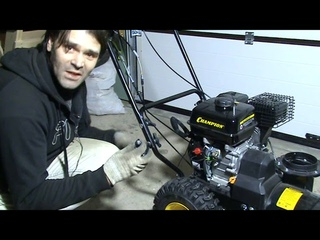 Снегоуборщик Champion ST556: сборка из коробки