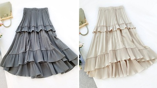 Многослойная плиссированная женская юбка обзор