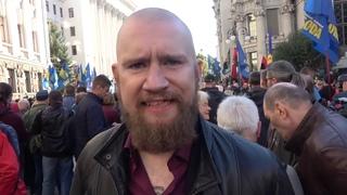 Юрий Шулипа, Борис Стомахин и Иван Белецкий на марше защитников Украины . Покрова