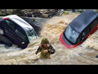 NOBODY EXEPTED! Italy City is full of water! Flash flood in Cernobbio, Italie