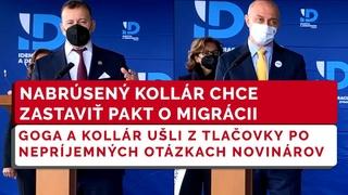 SME RODINA chce zastaviť pakt o migrácii, pri nepríjemných otázkach ušli z tlačovky | Kollár, Goga