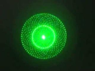 Зеленая лазерная указка с 5 ю насадками