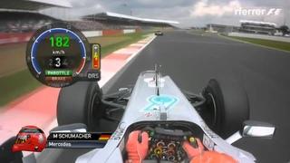 F1 2012   R09   Michael Schumacher onboard lap Silverstone   YouTube