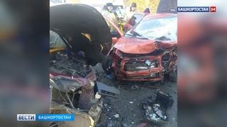 Достали из груды металла: 4 человека пострадали в жестком ДТП на трассе в Башкирии (ВИДЕО)