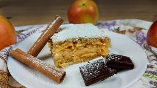 ☆ Венгерский яблочный насыпной пирог☆ Без замеса теста☆  выпечка, рецепты, кулинария.