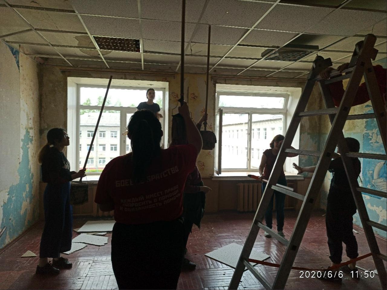 Помощь в подготовке к ремонту в Медновском интернате