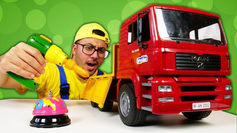 Oyuncak kamyon bozuldu! Eyvah, kırıldı! Çocuklar için araba oyunu!