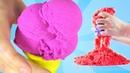 КИНЕТИЧЕСКИЙ ПЕСОК С ИГРУШКАМИ Мороженое Из Песка Kinetic Sand Colors For Children