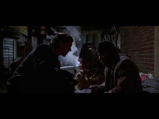 Американский психопат. Разговор с бездомным.