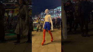 Ещё один интересный лысый: человек-Россия в Москве