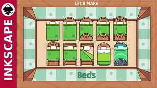 Inkscape Tutorial: Beds [ Really easy method ]