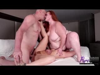 Julie Ginger & Febby Twigs BBW, Big Tits, Big Ass, Sex, Hardcore, Blowjob, Porn, Порно, Толстушка, Пышка