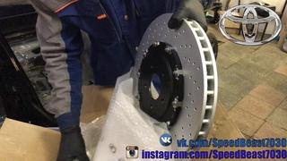 Комплект вентилируемых тормозных дисков BREMBO - Nissan GT-R (R35) для Toyota Chaser Tourer.V 🔥18+