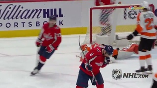 Alex Ovechkin scored his 22nd NHL goal of the season against the Philadelphia Flyers, 728 in NHL