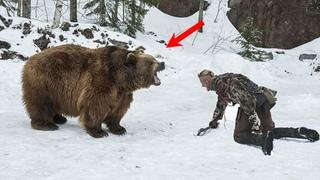 То, как медведь отблагодарил молодого егеря за свое спасение, тронет Вас до глубины души!