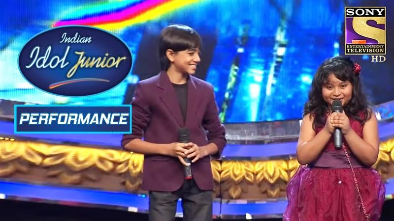 Nirvesh And Sonakshi's Mind blowing Performance On 'Yeh Raat Bheegi Bheegi' Indian Idol Junior