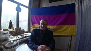 Петр Молодидов : Первый, кто  поднял  Флаг Донских казаков