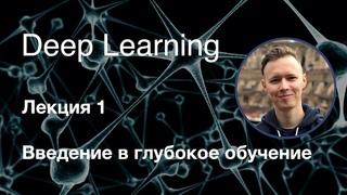 """Глубокое обучение. Лекция 1. Введение в глубокое обучение (курс """"Deep Learning"""", 2019-2020)"""