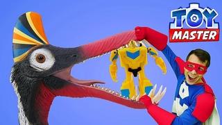 Автобот Бамблби и Той Мастер против Динозавров! – Онлайн видео игры Трансформеры Прайм.