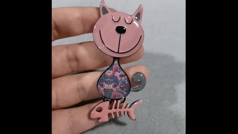 D Rui Ювелирные изделия Детская эмалированная брошь кошка для