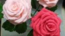 Реалистичная роза из гофрированной бумаги. Roza iz gofrirovannoy bumagi.Розы из гофрированной бумаги