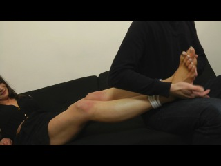 Helen-Maria's Sexy Bare Foot Tickle