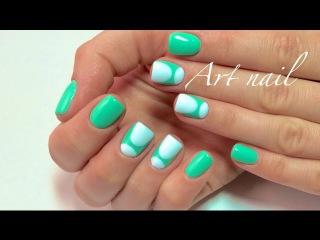 Дизайн Ногтей Гель-Лаком! Лунный Маникюр! Spring Summer Nail Art